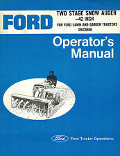 """FORD 42"""" SNOW AUGER FOR L&G TRACTORS OPERATOR MANUAL 09JC9806"""