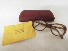 Vintage 1950s Bifocal Spectacles with case and dust cloth Glasses Frames.