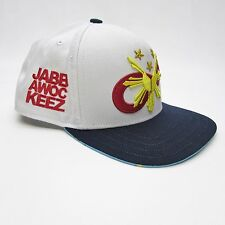 Jabbawockeez Ltd. Edition Flat Fitty Logo White Snapback Cap Baseball Hat, ABDC