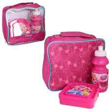 Insulated Raised Front Lunch Bag, Snack Box and Bottle set - DISNEY PRINCESS