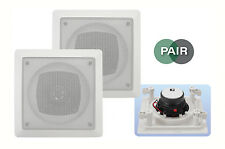 "e-audio Pro Water Resistant 4"" 2 Way Ceiling Speakers Pair (8 Ohms 70W) #B414"