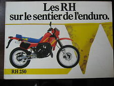 BROCHURE CATALOGUE  1980- 84   MOTO  SUZUKI ENDURO  RH 80 125 250 PROSPECTUS