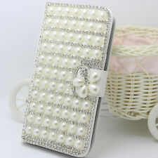 Bling Crystal Diamonds magnetic leather flip slots stand wallet case cover R-1