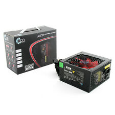 ACE 500W Black ATX Gaming PC PSU Power Supply 120mm Red Cooling Fan