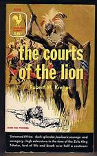 Krepps, Robert W. THE COURTS OF THE LION (1956) near mint Africa Zulu