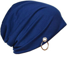 Blue Color Beanie Skull Cap with Ring for Men and Women. Buy 2 Get 1 Free