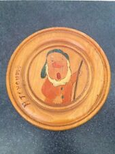 Vintage French Snow White & the Seven Dwarfs 8' Wood Plaque- Sneezy