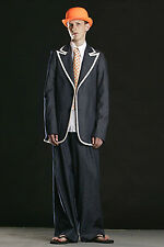 WALTER VAN BEIRENDONCK FUTUREDAY 2004 DENIM BLAZER JACKET METALLIC TRIM 50 UK 40