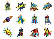 Temporary Super Hero & Fairy Tattoos Children Kids Party Pinata Fillers Toys