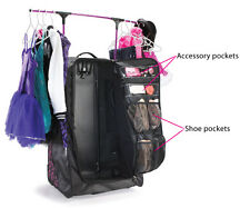 New Grit Dance Tower Dance Bag  Duffels WITH Rack n Roll FOLD AWAY Black Pink