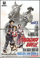 CINEMA-manifesto L'ORGOGLIOSO RIBELLE ladd, de havilland, jagger, CURTIZ