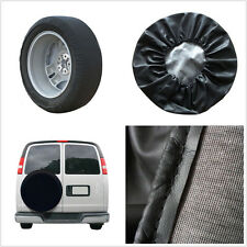 "15"" Durable PU Leather Black Autos Spare Wheel Tire Cover Protection Bag Size M"