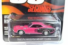 PLYMOUTH HEMI CUDA 1971 GONE 60 IN SECONDS 44670 1:64 GREENLIGHT HOLLYWOOD 7 NEW