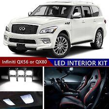 16pcs LED Xenon White Light Interior Package Kit for Infiniti QX56 or QX80