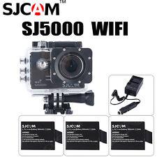 """SJCAM SJ5000 WiFi HD 2.0"""" Deporte Cámara De Acción 3x Batería+Dual Cargador"""