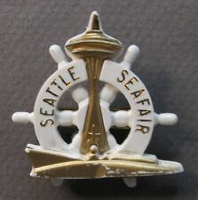 1966 SEATTLE SEAFAIR SKIPPER pinback button Hydroplane Boat racing