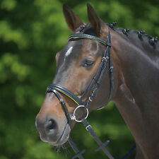 Waldhausen Star Bridle Diamond with Noseband-Black/Green Stones-Full