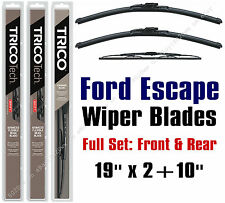 2001 2002 2003 Ford Escape Wiper Blades 3pk Front + Rear Wipers - 19190x2+10-1