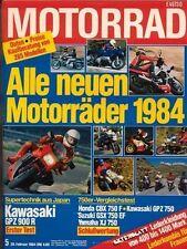 M8405 + HONDA CBX 750 F vs. KAWASAKI GP Z 750 und andere + MOTORRAD 5/1984
