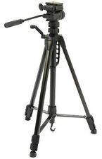 NEW BLACK 1.58M MAX 1.6KG CAMERA TRIPOD WITH FLUID EFFECT 3 WAY PAN/TILT HEAD