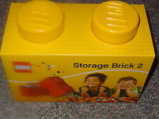 Lego Storage Brick 2 Yellow Lego Storage box New Block