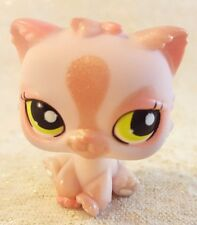 Littlest Pet Shop Pink Shimmer Persian Cat #1083 Green Eyes Patch Kitty 2006