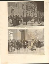Amadeo I of Spain Madrid Palacio Real FRANCE GRAVURE OLD ANTIQUE PRINT 1890