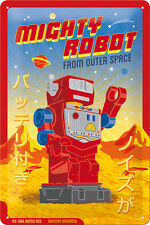 Mighty Robot  Blechschild 20x30 cm 22221 Retro Roboter
