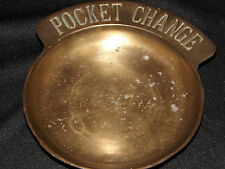 Vintage heavy duty Brass pocket change dish. LOOK!