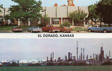 El Dorado KS Oil Refinery & County Judicial Building Postcard @1970