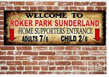 Roker Park Sunderland Style Metal Sign Football  Vintage Sign