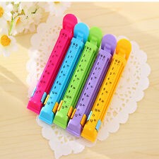 5Pcs Durable Creative Homes Travel Snack Food Plastic Bags Clip With Date Mark
