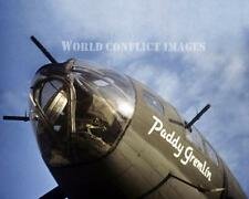 USAAF WW2 B-17 Bomber Paddy Gremelin 8x10 Nose Art Color Photo 379th BG WWII