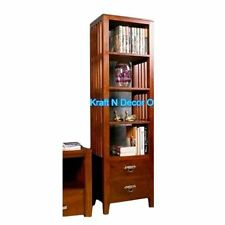 KraftNDecor Wooden Display Rack Cum Living Room Cabinet In Brown Colour - 291377971898