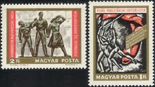 Hungary 1968 Communism/Politics/Workers/Martyrs/Poster/Statue 2v set (n45416)