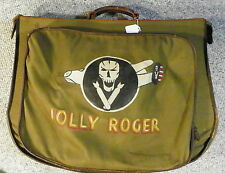 WW2 Jolly Rogers Grouping ,Painted B-4 Flight Bag ,Photos, Patches and More !