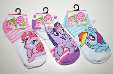 MY LITTLE PONY GIRLS SOCKS 3 PAIRS LOT 9-11 SHOE SIZE 4-10  BIRTHDAY GIFT PINKE