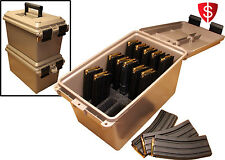Tactical Mag Can Storage 223 5.56 Ammunition Case Box Pmag Organizer 15 Magazine