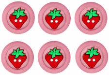JESSE JAMES ~ DRESS IT UP BUTTONS - STRAWBERRY SEW FUN COLLECTION~ SALE! ~ CRAFT