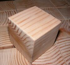 3 Inch Natural Wood Toy Building Block / Cube 3 Inch Size - Made in USA