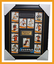 2014 WEST TIGERS NRL TRADERS RUGBY LEAGUE COMPLETE COMMON CARD SET FRAMED