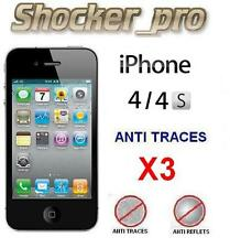 3X Films de protection (MAT) Anti traces et Anti reflets. IPHONE 4 .