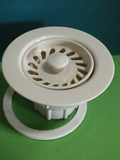 *NEW*  JB Kitchen Sink Strainer Two Piece, BISCUIT 332552 ECONOMY STRAINER