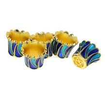 5pcs Gold Metal Cloisonne Loose Spacer Bead Flower Caps Jewelry Findings DIY