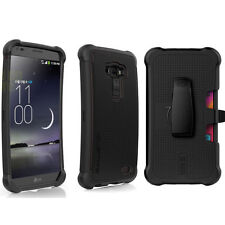Ballistic SG MAXX Tough Jacket Case w/Holster Belt Clip for LG G 1 Flex (Black)