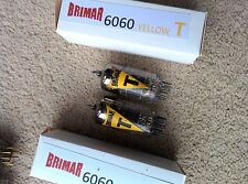 2 BRIMAR 6060 A2900 ECC801S tube valve YELLOW T 3 MICA SQ Getter12AT7 ECC81 1956