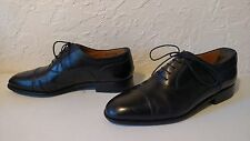 BALLY Mens 'Kensington' Oxfords Black Leather Cap-toe Sz 9 D US..Made In Italy