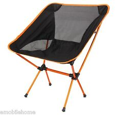 Portable Folding Chair Beach Seat  for Hiking Fishing Picnic BBQ Orange