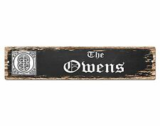SP0732 The OWENS Family name Sign Bar Store Shop Cafe Home Chic Decor Gift