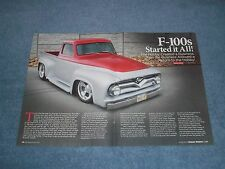 "1955 Ford F100 Custom Pickup Truck Article ""F-100's Started it All!"""